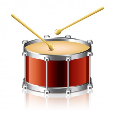 Bass drum vector illustration