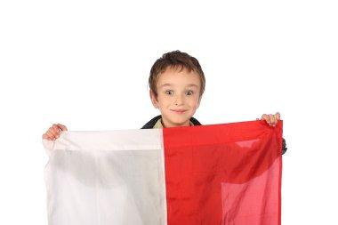 Boy with Polish flag