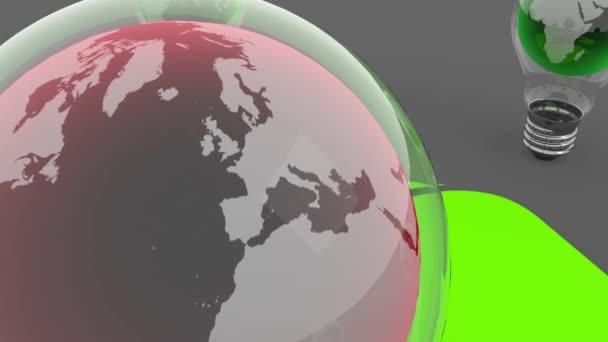 zemi světa v pojetí ekologie žárovka