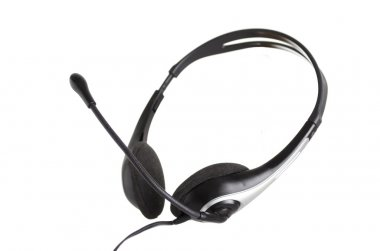 Headset on White Background