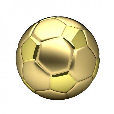 Golden football ball isolated on white background stock vector