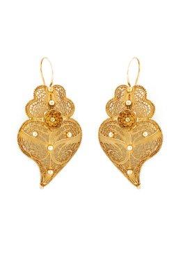 Filigree earrings, gold