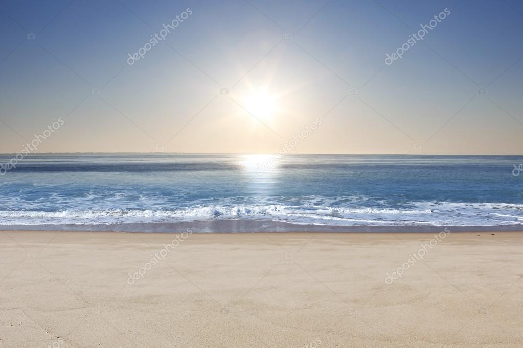 Beach at sunrise