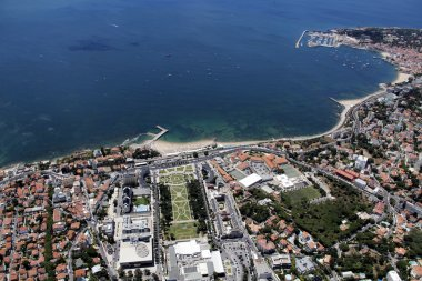 Cascais bay view from the sky