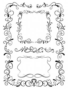 Decorative frames and pattern