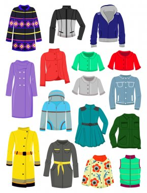 Autumn jackets and raincoats