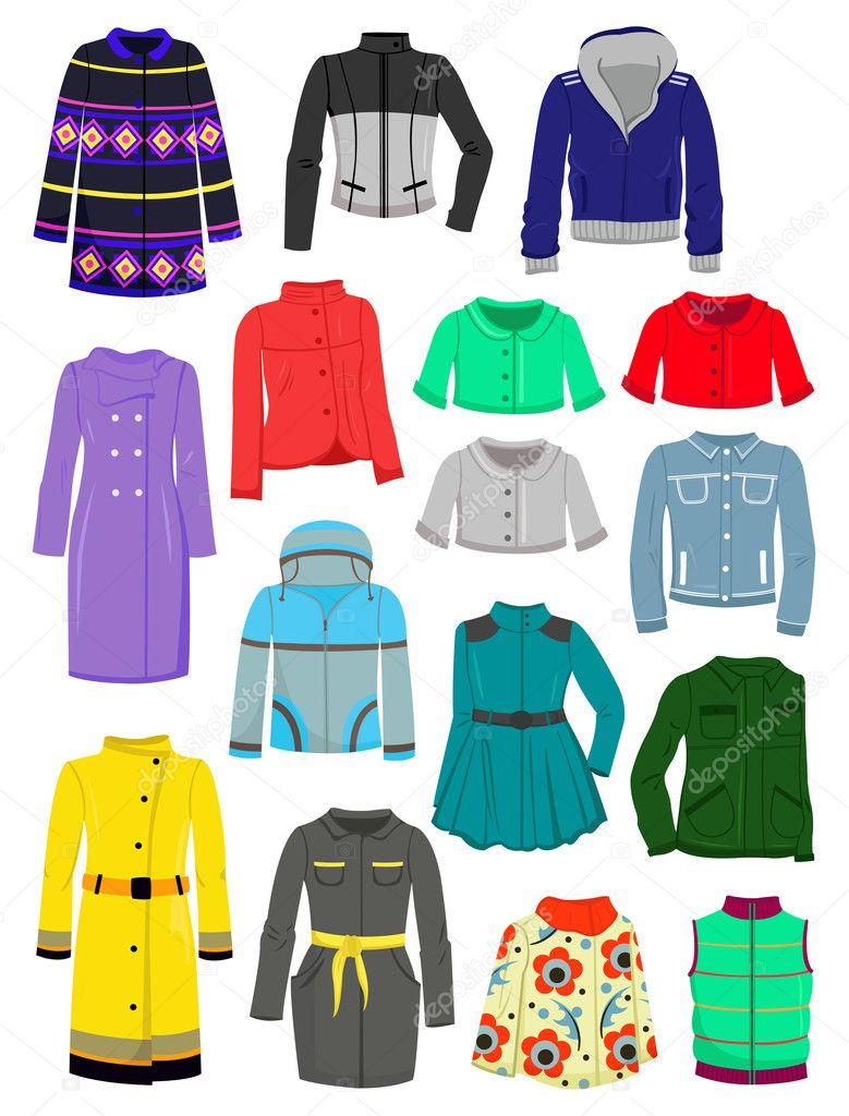 Autumn jackets and raincoats