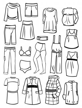 Set of maternity clothes