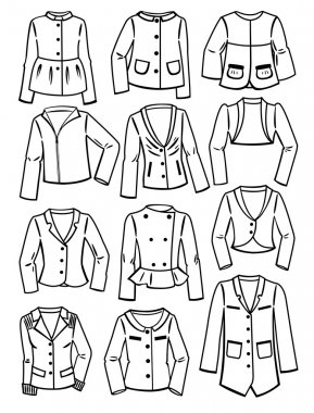 Contours of women's jackets