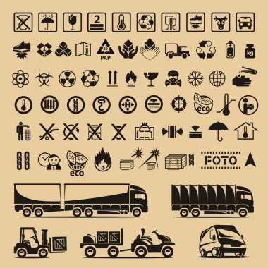 Set of packing symbols