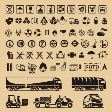 Set of packing symbols