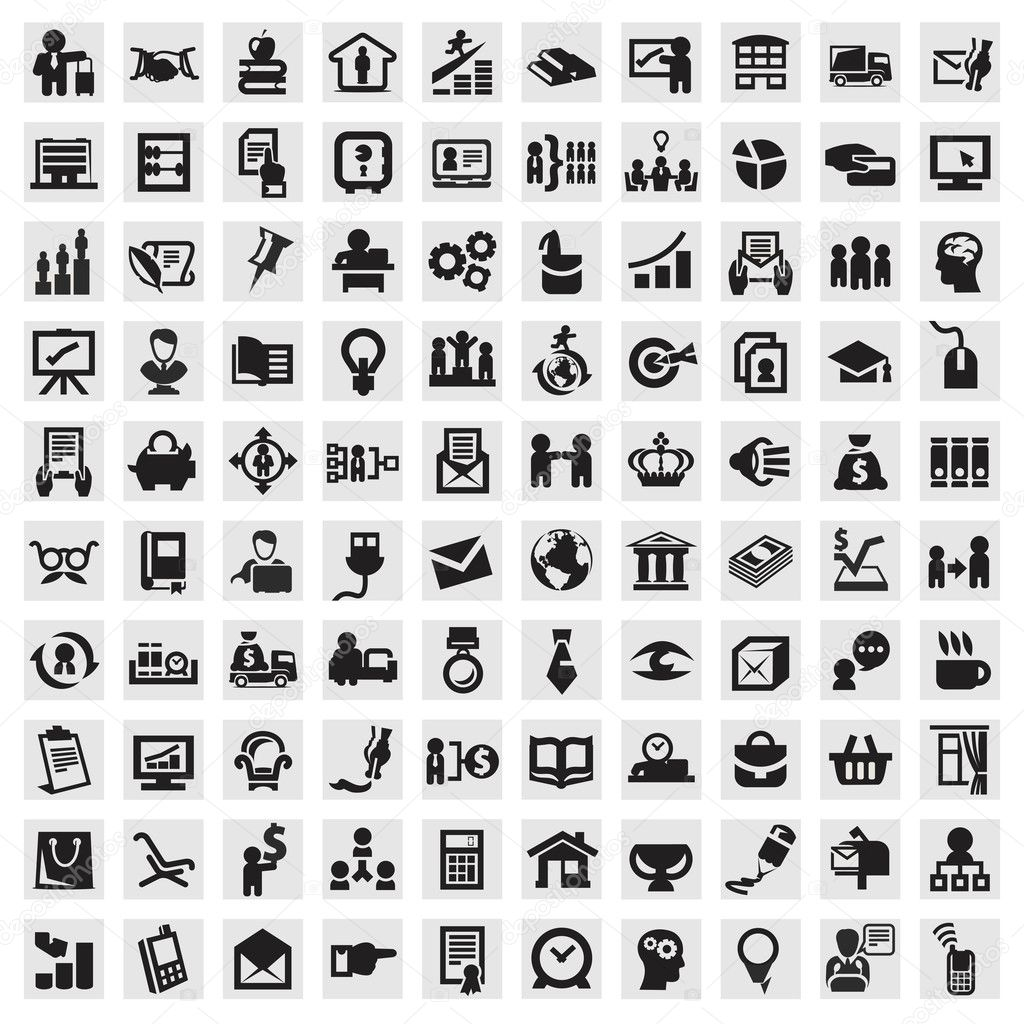 Set of icons. business