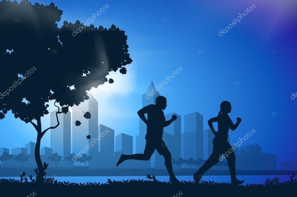 drawing running athletes