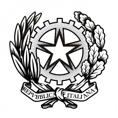 Italy coat of arms. Vector format