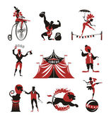 Fotografie cirkus. kolekce ikon