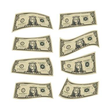 Money. Dollars. Vector format