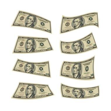 Dollars. Vector format