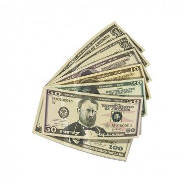Dollars. Vector format.