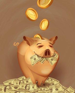 Piggy bank. Vector format