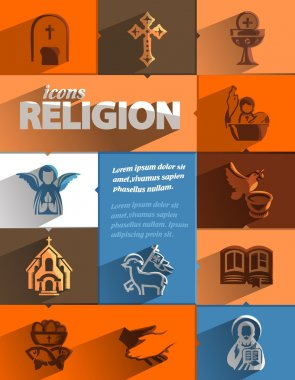 Religion icons. Vector format stock vector