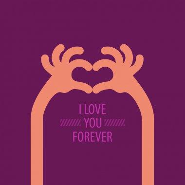 I love you forever. Vector format