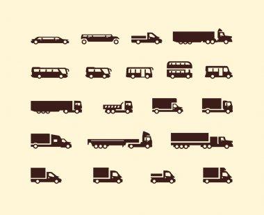 Transportation icons. Vector format