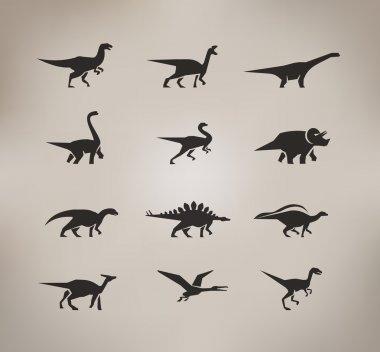 Dinosaurs. Vector format