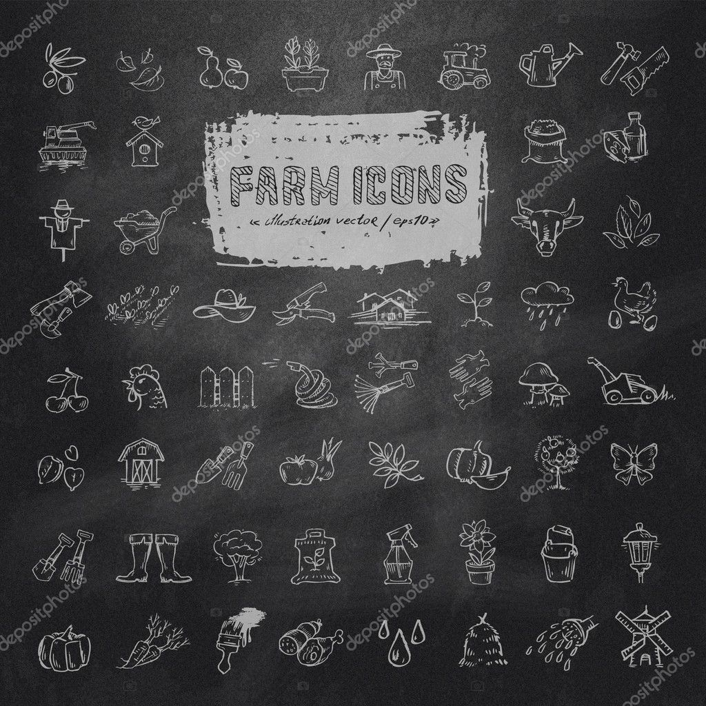Farm icons set. Vector format