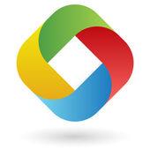 Fotografia progettazione del logo in quattro colori