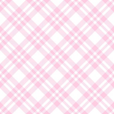Checkered tablecloths pattern endlessly - pink
