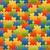 Pozadí kousky puzzle barevné - nekonečné
