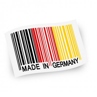 Flag with barcode -  MADE IN GERMANY