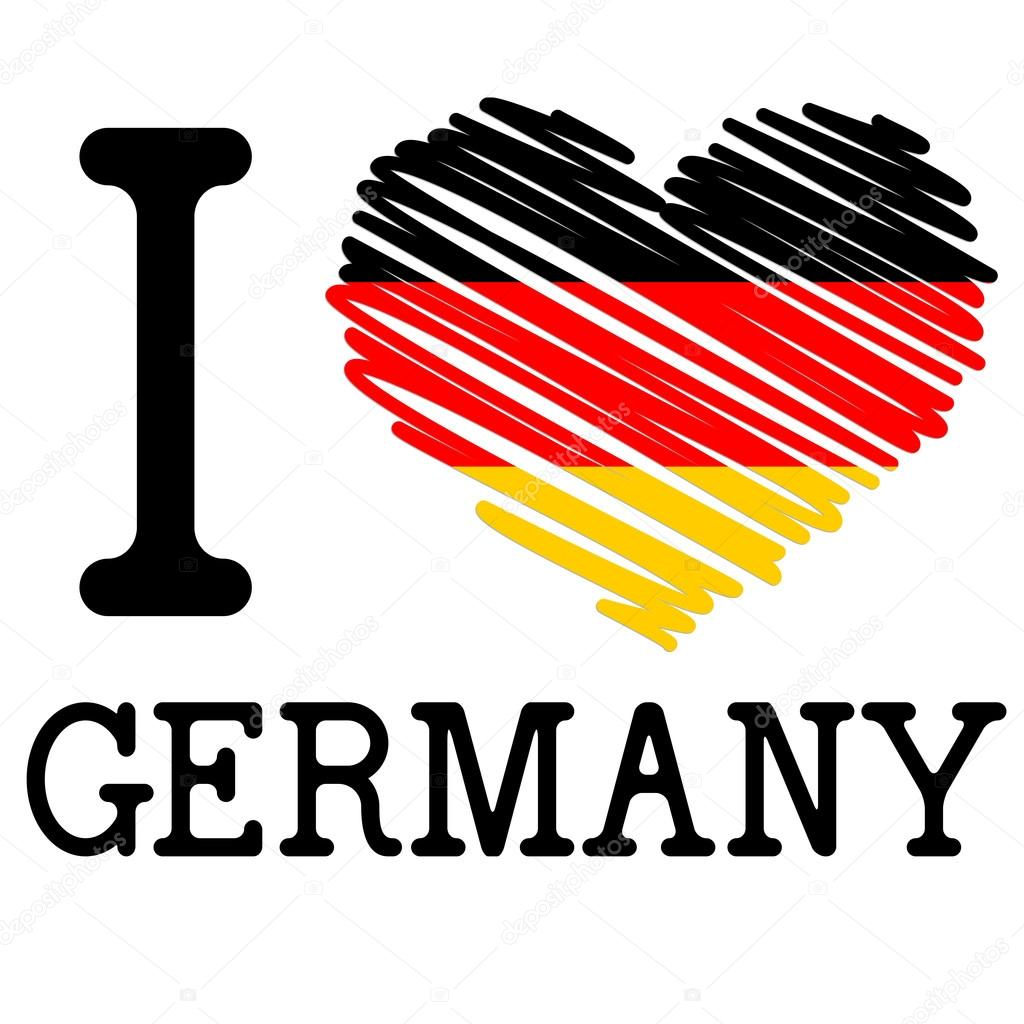 Открытка, картинка с надписью я немка