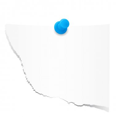 Scraps of paper with pin