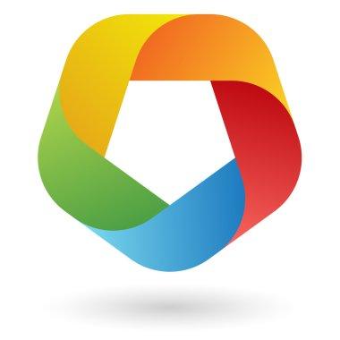 Logo design in five colors