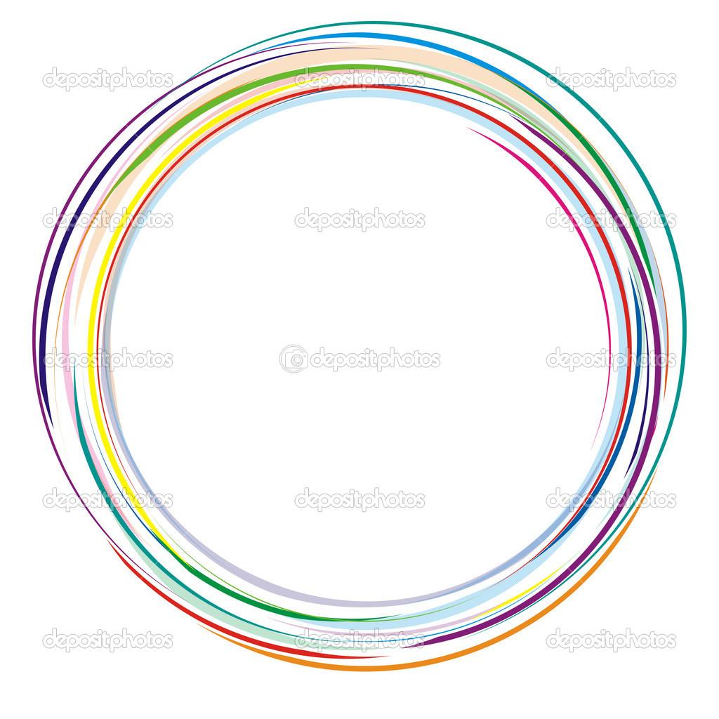 Dessin abstrait color rond image vectorielle - Dessin colore ...