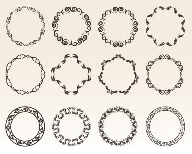 Decorative circle borders vector illustration