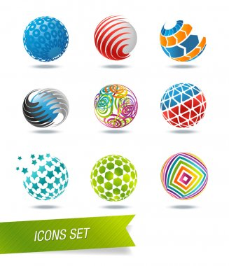 Sphere icon set