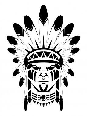 Apache native stock vector
