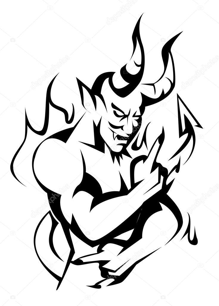 Devil vector — Stock Vector © premiumdesign #12650076