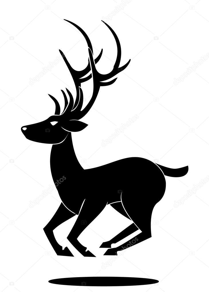 Deer Jumping Symbol Stock Vector Premiumdesign 13512627