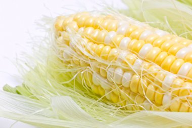 Close up of sweetcorn.