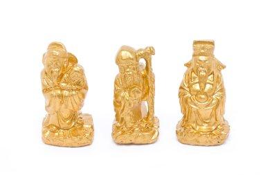 Fu Lu Shou, Chinese lucky god graven
