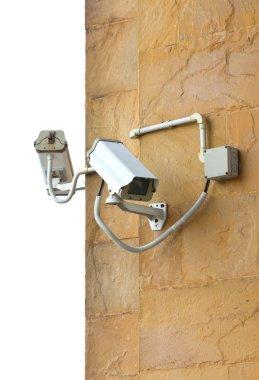 Two CCTV security cameras