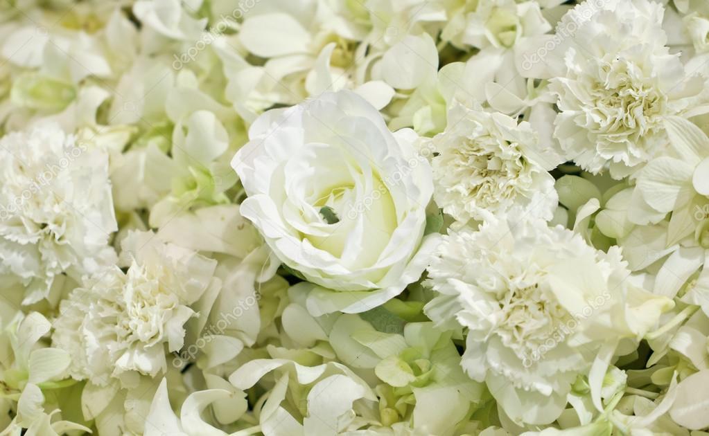 Sztuczne Kwiaty Białe Zdjęcie Stockowe Happymay 32602239