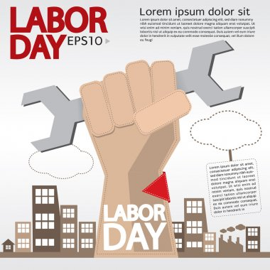 May 1st Labor day illustration conceptual.