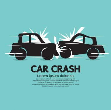 Car Crash Vector Illustration EPS10