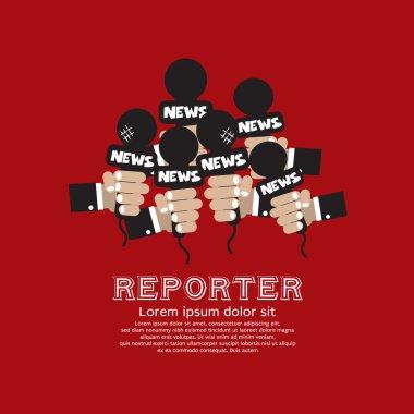 Reporter Concept Vector Illustration EPS10