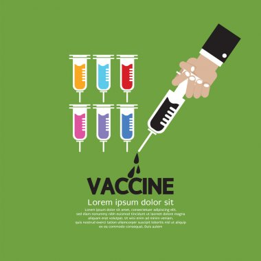 Hand Holding Syringe With Vaccine Inside