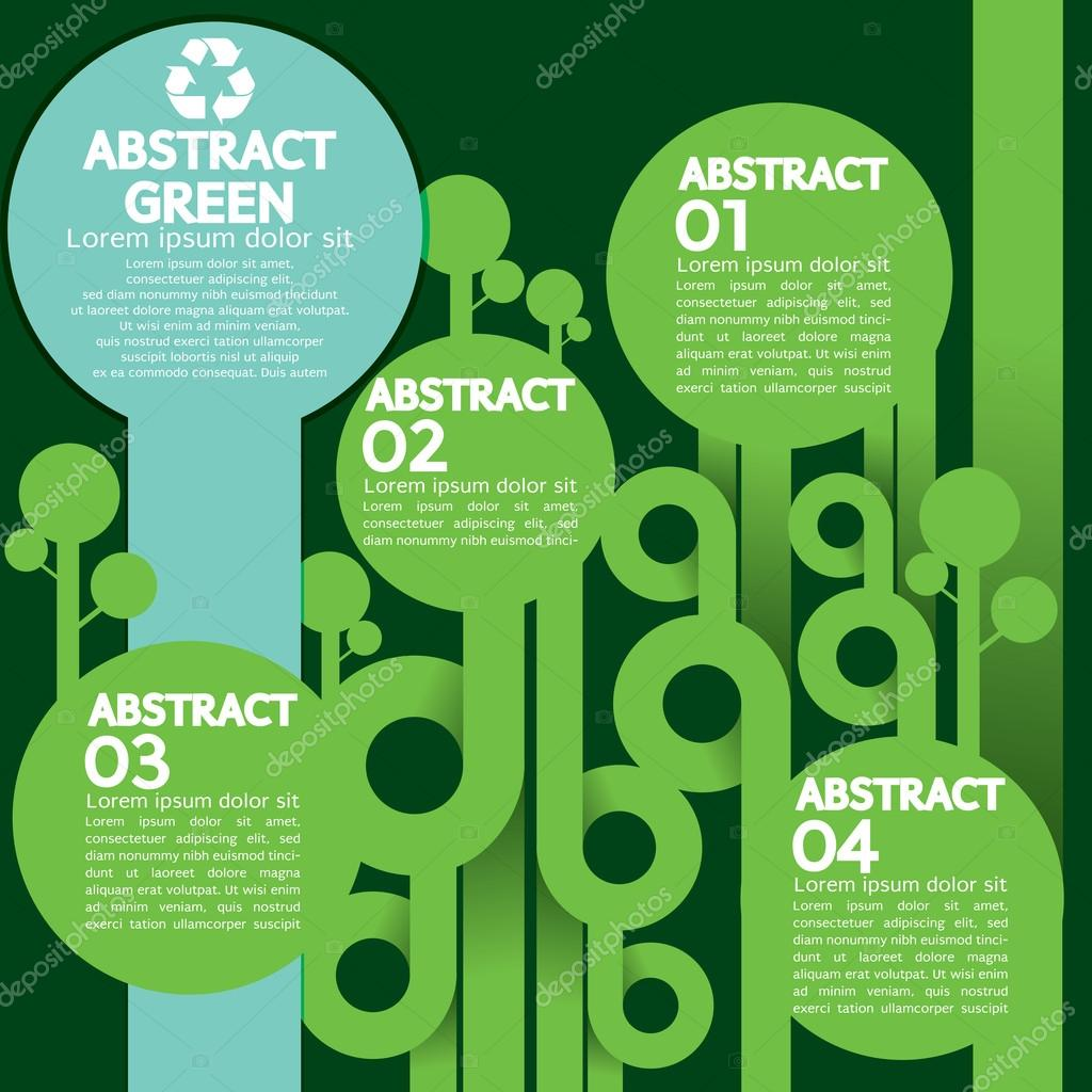 Green Concept Infographic.